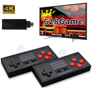Mini portable Console de jeux HD 4K Lecteur jeux vidéo sans fil de poche manette de jeu HDMI 628 Retro Classique Jeux pour enfants Le meilleur cadeau