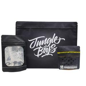 Meninos selva Bag Cheiro Bags prova Jungleboys Package Ziplock Mylar Preto Só empacotar Zipper Stand Up Pouch para Dry Herb Flowers DHL