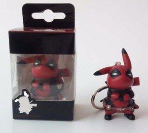 Caliente vengadores figura Deadpool juguetes llavero Marvel Deadpool PVC figura de acción de juguete colección modelo para el regalo birthdy