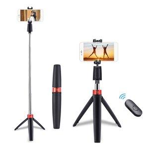 3 in 1 senza fili Bluetooth selfie Stick Mini treppiede allungabile monopiede universale per iPhone 11Pro max XR X 7 Plus Samsung Huawei 21