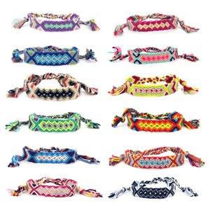 VSCO Bohemian pulseira handmade tecido por Mulheres Homens Multicolor do arco-íris Tassel corda trançada Sorte Amizade Boho Pulseiras Jóias B012