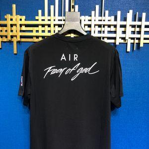 Весна лето 2020 туман страх Божий граффити бренд сотрудничество дизайнер футболка мода Мужчины Женщины футболка повседневная хлопок тройник