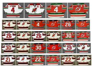 Vintage New Jersey Devils Trikot 4 SCOTT STEVENS 26 PATRIK ELIAS 30 MARTIN BRODEUR 29 MARTIN BRODEUR 21 RANDY McKAY 22 CLAUDE LEMIEUX Hockey
