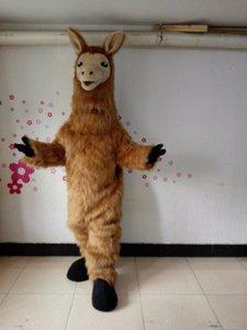 Halloween Lama Maskottchen Kostüm Hohe Qualität Cartoon Brown Kamel Anime Thema Charakter Weihnachten Karneval Party Kostüme