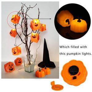 Eco-Friendly Halloween Pumpkin Flameless Flashing Velas LED a pilhas Luz Cnadles vela pequena lâmpada de lanterna Santo Decoração