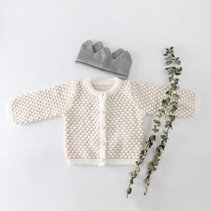 2018 Vêtements de bébé 0-2 Y Bébés filles Costume Pull filles Cardigan manteau + Romper Romper deux pièces Pulls Vêtements pour enfants