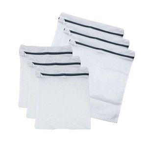 Set Of 6 Mesh Laundry Bags With Zip Lock-3 Large & 3 Medium For Laundry,Blouse, Hosiery, Stocking, Underwear, Bra And Lingerie,
