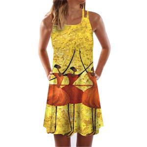 Tamaño para mujer 3D espaguetis Srtap vestidos cortos Desinger verano más Ropa de mujer atractiva de la playa Vestidos estilo
