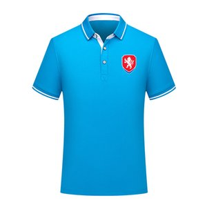 Çek Cumhuriyeti 2020 milli takım pamuklu futbol polo gömlek erkekler kısa kollu yaka polo futbol erkekler polo gömlek eğitim forması Erkekler Polos