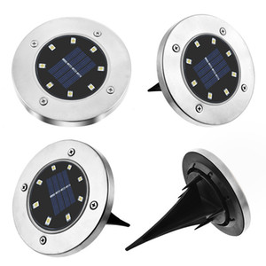 Solarbetriebene Bodenleuchte 4 LED begraben Rasenleuchten Außenbodenleuchten Garten dekorative Lichter Sensor Control Induktion Licht