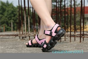 Hot Sale-Men's Women's Sandal High Quality Unisex Shoes For Summer Couple Shoes Sandals Triple Black Pink Colorful Soles c03
