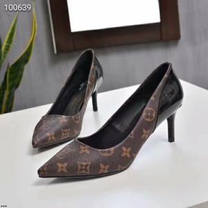 19ss Düğün Ayakkabı Zapatos Mujer Tacon Satış Büyük Boy 35-41 Yeni Markası Alt Ayakkabı Yüksek Topuklar Şeker Renkleri Sivri Toe Sıcak pompaları