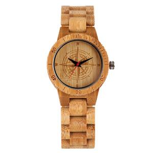 Шикарный шаблон набор Бамбуковые часы для мужчин ручной работы кварцевые Деревянные часы для женщин Элегантный Hook Buckle Бамбуковый диапазона Наручные часы