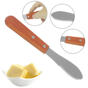 Buttermesser Edelstahl Spreader Bestecke Buttermesser Spachtel Schaber mit Holzgriff Küche Käse Butter Jam Messer
