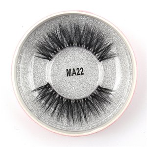 MA22 3D Faux Mink Eyelashes False Mink Eyelashes 3D Silk Protein Lashes 100% Handmade Natural Fake Eye Lashes with Pink Gift Box