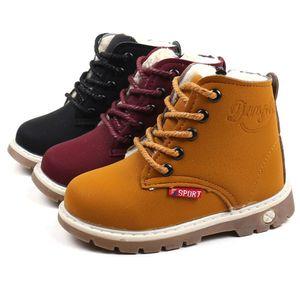 Sapatos Arloneet 2018 Quatro Estações de Moda Infantil Meninas Meninos Martin Couro Sneaker Botas Sapatos de Estudante Criança Sapatos de Festa Y19051303