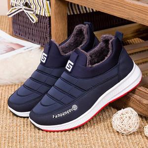 أحذية SAGACE النساء الرجال زوجين عارضة الازياء الشتوية الدافئة زلة مريحة في جولة تو قصيرة الكاحل الأحذية حذاء حذاء رياضة # 45