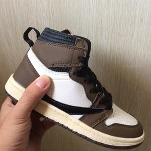 1S مصمم 1 عالية أحذية OG الاطفال كرة السلة منتصف ترافيس سكوت Cailctus جاك Chdren أحذية رياضية بوي فتاة طفل مدرب حذاء رياضة