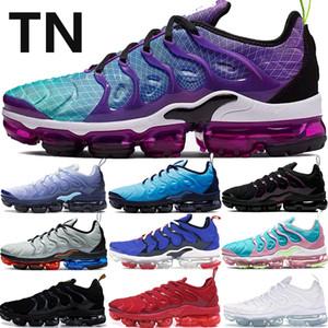 Nueva TN Plus zapatos corrientes del mens Hyper Violeta de triple blanco negro rojo azul costera hombres de mar de color rosa las mujeres deporte zapatillas de deporte de los Estados Unidos 5,5-11