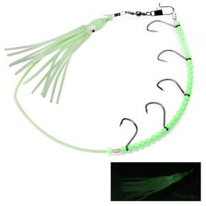 1pcs 33cm 7g Gancho de cuerda de pulpo luminoso Anzuelos de pesca Anzuelos Cebos suaves Señuelos Cebo artificial Pesca Aparejos de pesca Accesorios