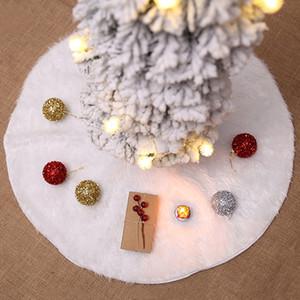 Weihnachtsbaum-Rock Weihnachtsbaum Ornament 60/78 / 90 / 122cm Weiß Plüsch Weihnachtsbaumdekoration Rock Party Supplies VT0583