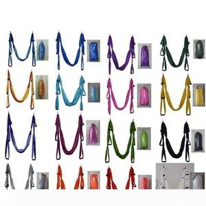 B Colorful Anti Gravity Hammocks Air Flying Yoga Hammock High Density Nylon Taffeta Fitness Swing Top Quality 75 5sh BB