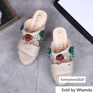 Beaded And 8402 Women Slippers Drivers Sandals Slides Sneakers Princetown Slipper Real Leather Shoes