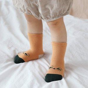 5 Pair Baby Boys Girls Socks Set Cartoon Striped Pattern Socks Set Cotton Warm Floor Socks Leg Warmer
