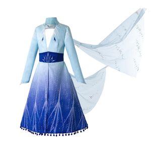 Pettigirl 2019 Nuevos 2 trajes de las muchachas del vestido de la princesa Snow Queen trajes de las muchachas Ropa de Cosplay para el partido y el cumpleaños de Halloween Ropa para niños