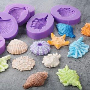 Морские Раковины Силиконовые Формы Fondant Mold Инструменты для Украшения Торта Шоколадные Формы Gumpaste, Sugarcraft, Кухонные Принадлежности