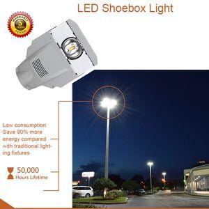 أضواء الشارع LED ، مصباح الطريق IP65 المقاوم للماء ، ضوء الفيضانات في الهواء الطلق ، مصباح الجدار الصناعي الخفيف للمستودع ، موقف السيارات ، الحديقة ، الفناء