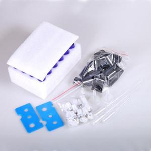 أسعار الجملة مربع التعبئة والتغليف الفولاذ المقاوم للصدأ الكرة 10ML من الضروري النفط سميكة الزجاج الرول الزجاجات العنبر الأزرق الألوان ث / فتاحة القمع القطارة