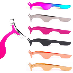 Top Seller cílios falsos Pinças Falso Eye Lash Applicator pestana Extensão Curler Nipper auxiliar grampo Braçadeira Makeup Tools