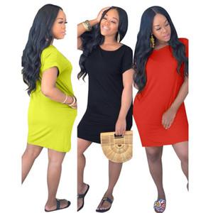 vestito da donna un pezzo vestito estate gonna manica corta designer above_knee vestito allentato di alta qualità elegante clubwear di lusso klw0488
