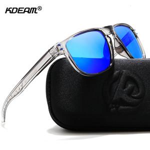 KDEAM bene durevole Leggero occhiali da sole polarizzati Tutto si può tagliare Occhiali da sole Uomini Coating delle lenti Minimizzare Hard Case Glare incluso SH190924