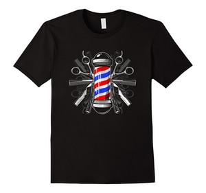 2019 Novo Verão Fresco Tee Shirt Barbeiros Pólo Scissor Cabelo Clippers Pente T Shirt Barber Tee Camiseta De Algodão