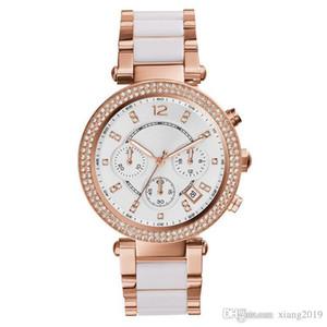 Marke M Uhren Luxus-Uhr für Mädchen Tag feinen Stahl Diamanten wasserdicht Roségold Uhrgroßverkauf