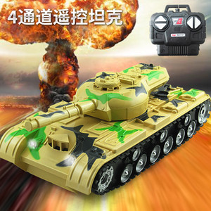 Wholesale 1:22 acoustooptic four-way charging remote control tank toy children simulation model electric remote control vehicle