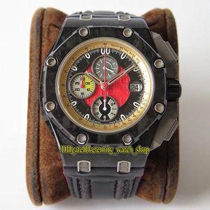 JF V3 Top Limited Edition 26290IO 26290 Carbon Fiber Bezel Cal.3126 Chronographe Automatique F1 Mens Watch Sapphire Designer Sport Montres