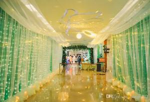 3x3 / 6x3 m 300 LED Icicle Dize Işıkları LED Noel Noel Işıkları Peri Işıkları Düğün / Parti / Perde / Bahçe Deco için Açık Ev