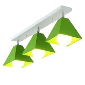 İskandinav tavan lambası tarzı, modern minimalist Macaron yaratıcı koridor sundurma tavan lambası yatak odası balkon demir lamba RW11