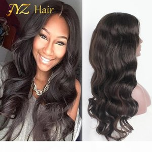 JYZ Full Lace Human Hair Wigs Brazilian Virgin hair Body Wave Human Lace Front Wigs Fashion Body Wave Hair With Adjustable Strands