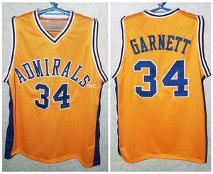 # 34 Kevin Garnett Farragut Admiral Schule Retro klassischer Basketball Jersey Mens genähtes Benutzerdefinierte Nummer und Name Trikots