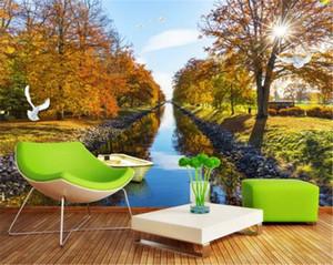 Pays Ctyle Fond d'écran Belle style européen et américain Paysage Salon Chambre fond mur Décoration murale Fond d'écran
