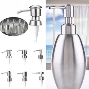 6 tipos de acero inoxidable bomba de jabón de la bomba con tubo de extensión líquido dispensador de la loción tubos de tarro de repuesto para baño # 05