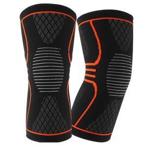 2PCS protecção elástica de compressão Knee Pads Knitting rótula aptidão Apoio antiderrapante alívio da dor Correndo Outdoor Sports