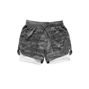남성 스포츠 체육관 짧은 압축 전화 포켓 착용에서 기본 레이어 짧은 바지 운동 솔리드 타이즈 반바지 바지