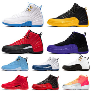 Nike Air Jordan retro 12 12s stock x Basketball Schuhe XII 2020 JUMPMAN 23 DARK CONCOR REVERSE FLU GAME Gym BULLS Luxusmarke Herren Sneakers Turnschuhe Größe EUR 47