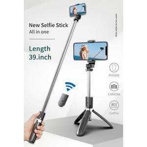 3 in 1 Mini Selfie Einbein-Stativ bewegliche drahtlose Bluetooth Selfie-Stick mit Fernbedienung faltbare Universelles für intelligentes Telefon