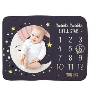 Baby Blankets Newborn Milestone Blankets Kids Beddroom Rug Babies Background Cloth Calendar Photo Props Nursery Bedding 12 Designs BT5279
